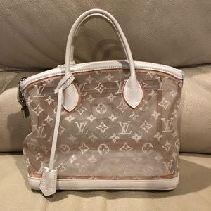LV Transparent Lockit Bag White